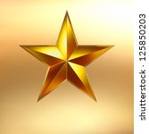 Illustration Of A Gold Star On...