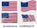 Flag Of The Us 13 Stars Betsy...