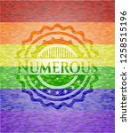 numerous emblem on mosaic... | Shutterstock .eps vector #1258515196