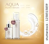 aqua hydro serum collagen and... | Shutterstock .eps vector #1258515859