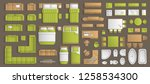icons set of interior.... | Shutterstock .eps vector #1258534300