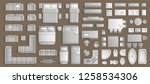icons set of interior.... | Shutterstock .eps vector #1258534306