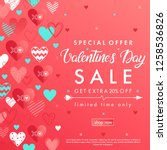 valentines day special offer... | Shutterstock .eps vector #1258536826