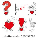 funny vector icons with cartoon ...   Shutterstock .eps vector #125854220