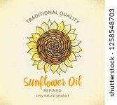 label design template for... | Shutterstock .eps vector #1258548703