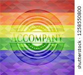 accompany emblem on mosaic... | Shutterstock .eps vector #1258550800