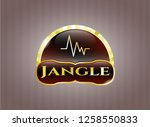 gold emblem with... | Shutterstock .eps vector #1258550833