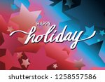 happy holiday illustration...   Shutterstock .eps vector #1258557586