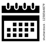 calendar solid icon | Shutterstock .eps vector #1258564879