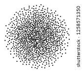 dot work sphere. pointillism... | Shutterstock .eps vector #1258571350