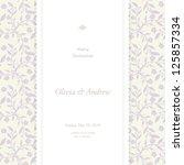 wedding card  invitation card | Shutterstock .eps vector #125857334