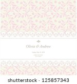 wedding card  invitation card | Shutterstock .eps vector #125857343