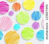 light colorful bubbles pattern  ... | Shutterstock .eps vector #125857490