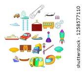 carriage icons set. cartoon set ...   Shutterstock .eps vector #1258577110