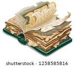isometric old book of magic...