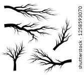 silhouettes of branches. vector ...   Shutterstock .eps vector #1258593070