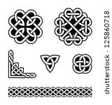 celtic knots patterns   vector | Shutterstock .eps vector #125860718
