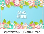 spring background with... | Shutterstock .eps vector #1258612966