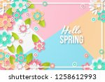spring background with... | Shutterstock .eps vector #1258612993