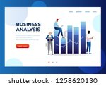 business and data analysis... | Shutterstock .eps vector #1258620130