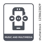 music and multimedia icon... | Shutterstock .eps vector #1258623829