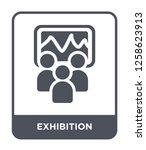 exhibition icon vector on white ...   Shutterstock .eps vector #1258623913
