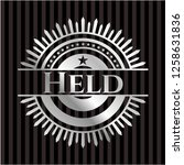 held silver badge or emblem   Shutterstock .eps vector #1258631836