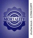 mortality badge with denim...   Shutterstock .eps vector #1258631899