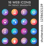 contact us icon set. contact us ... | Shutterstock .eps vector #1258632139