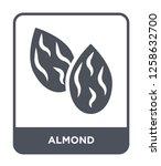 almond icon vector on white... | Shutterstock .eps vector #1258632700