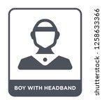 boy with headband icon vector... | Shutterstock .eps vector #1258633366
