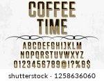 font alphabet  script typeface...   Shutterstock .eps vector #1258636060