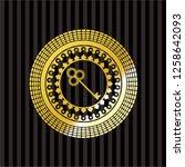 key icon inside golden emblem...   Shutterstock .eps vector #1258642093