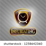 gold badge or emblem with...   Shutterstock .eps vector #1258642360