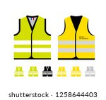 yellow and light green... | Shutterstock .eps vector #1258644403