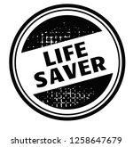 life saver advertising sticker  ... | Shutterstock .eps vector #1258647679