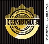 infrastructure golden badge or...   Shutterstock .eps vector #1258657936