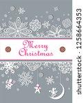 winter pastel paper decoration...   Shutterstock .eps vector #1258664353