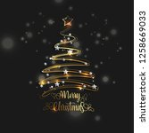 holiday's background with... | Shutterstock .eps vector #1258669033