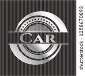 car  silvery shiny badge   Shutterstock .eps vector #1258670893