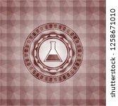 test tube icon inside red...   Shutterstock .eps vector #1258671010
