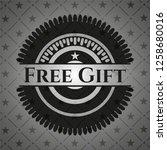 free gift dark badge | Shutterstock .eps vector #1258680016