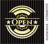 open gold badge or emblem   Shutterstock .eps vector #1258680193
