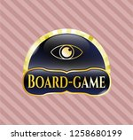 gold badge or emblem with eye...   Shutterstock .eps vector #1258680199