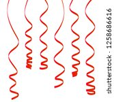 set of hanging spirally holiday ...   Shutterstock .eps vector #1258686616