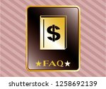 gold badge with book with...   Shutterstock .eps vector #1258692139