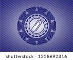 paper clip icon inside badge...   Shutterstock .eps vector #1258692316