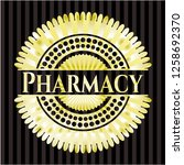 pharmacy golden badge or emblem   Shutterstock .eps vector #1258692370