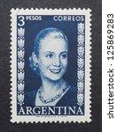 argentina   circa 1952  a... | Shutterstock . vector #125869283
