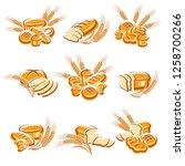 bread set. vector   Shutterstock .eps vector #1258700266